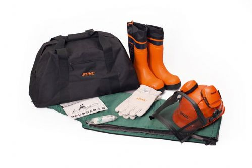 Stihl PPE kit with Rubber Chainsaw Boots S/M Chaps